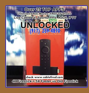 new 4k unlocked fire TV stick with Alexa for Sale in New York, NY