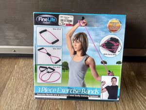 Fine Life 3 Piece Exercise Bands for Sale in Hesperia, CA