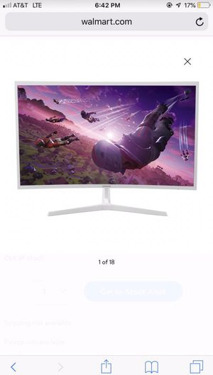 """Samsung 32"""" Class Curved F395 LED Monitor for Sale in Oceanside, CA"""