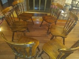 6 Ethan Allen vintage style chairs and or dining table for Sale in Hyattsville, MD