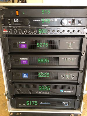 Whole Racks DJ /party/studio equipments QSC,Peavey power amplifier $225 price negotiable for Sale in Norwalk, CA