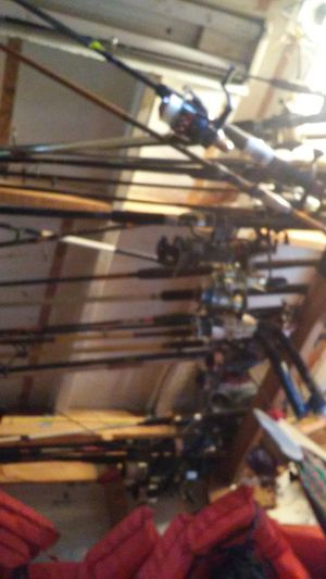 All kind of brand fishing poles some collectors for Sale in Tampa, FL