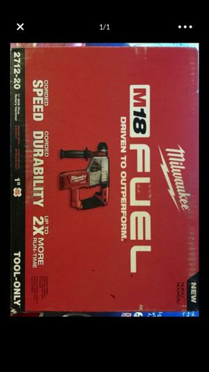 New Milwaukee New Milwaukee M18 Fuel Brushless 1 in. SDS Plus Rotary Hammer Drill Tool-Only 2712-20 for Sale in Santa Ana, CA