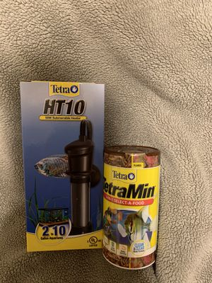 Fish Food and heater * New for Sale in Arlington, TX