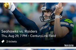 Seahawks vs Raiders tickets - 2 Lower Level for Sale in Clackamas, OR