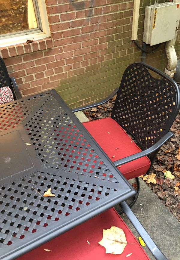 6-chair Patio Set w/ cushions