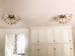 2 Flush Mount Wall Sconces Gold and Acrylic for Sale in Bay Village, OH