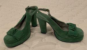 Michael Kors Green Suede Platform Heels, Size 6 for Sale in Charles Town, WV