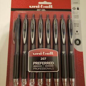 Uniball Professional 207 Black Pen(8 Count) for Sale in Glendale, AZ