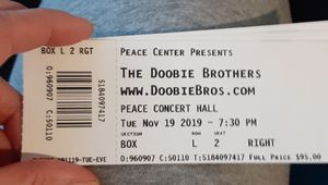 4 box seat tickets to the Doobie Brothers concert for Sale in Greenville, SC