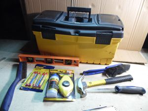 "Keten 22"" plastic Tool Box W/ Removable Tray & 7 Hand Tools Stanley Chalk Line for Sale in Drexel Hill, PA"