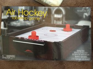 Small tabletop air hockey game for Sale in Albuquerque, NM