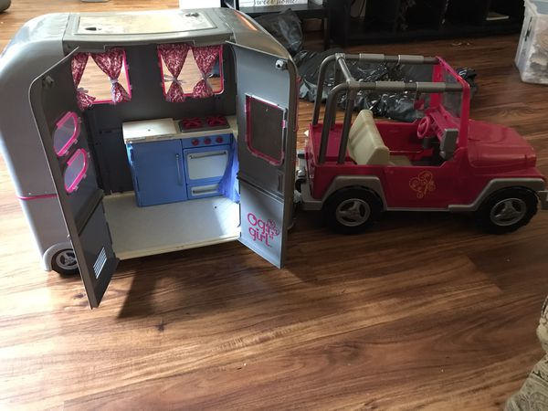 """Og girl Jeep and Camper """"for American Girl type of dolls"""""""