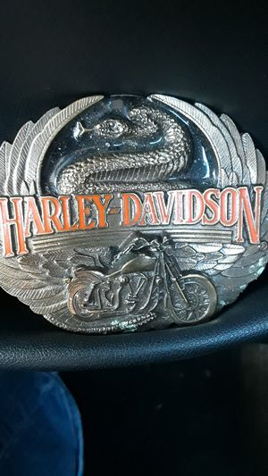 Harley Davidson belt buckle from the Harley shop in Ky. for Sale in Kingsport, TN