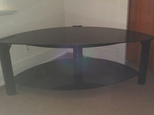 Heavy duty glass TV stand for Sale in Fort Wayne, IN