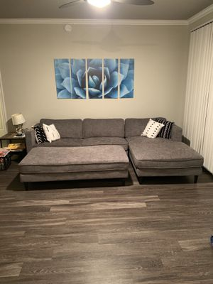 Living Spaces Couch and ottoman for Sale in Scottsdale, AZ
