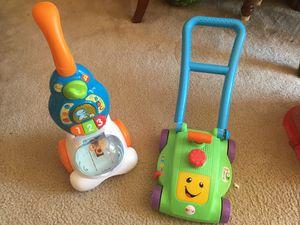 Kids lawn mower, lids vacuum for Sale in Manassas, VA