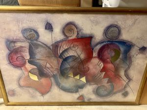 Large Framed Abstract Print painting 32x24 for Sale in Raleigh, NC