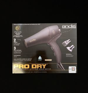 Andis Pro Dry Professional Styling Hair Dryer for Sale in Missouri City, TX
