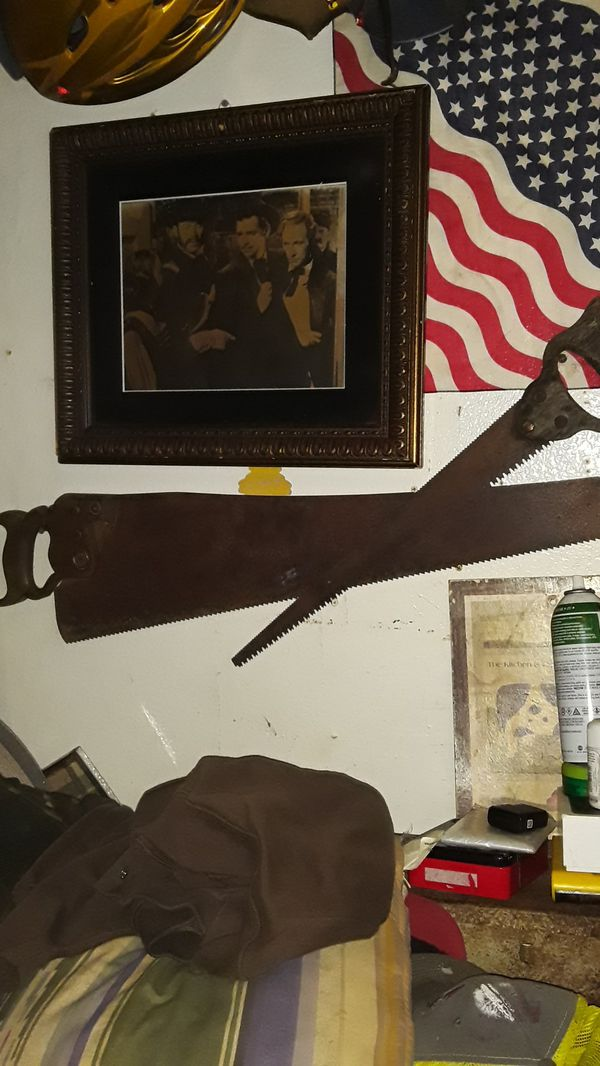 Antique hand saw and finish saw 45.00 for both