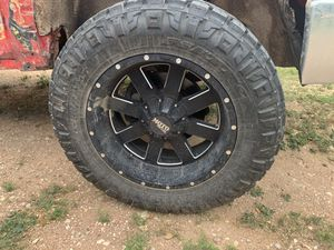 Moto metal rims and nitto ridge grapplers for Sale in San Angelo, TX