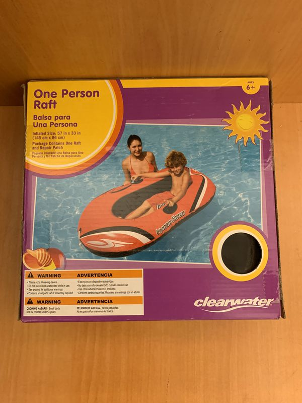 New Hydro-Force Inflatable Boat One Person Explorer Raft Pool Float for Ages 6+