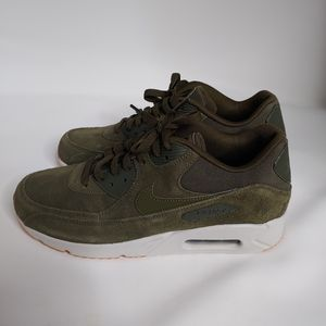 Nike Air Max 90 Ultra 2.0 Leather Men's Olive Canvas 924447-301 Size 9.5 for Sale in Whittier, CA