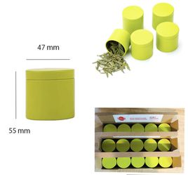"""Small Tin Can Box with Airtight Lids Canister for Coffee Tea Candy Storage Loose Leaf Tea Tin Containers Storage 15 Pcs S=(D:1.85""""*H:1.77"""") , Green for Sale in Alexandria,  VA"""