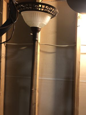 Tall brown floor lamp for Sale in Galena, OH