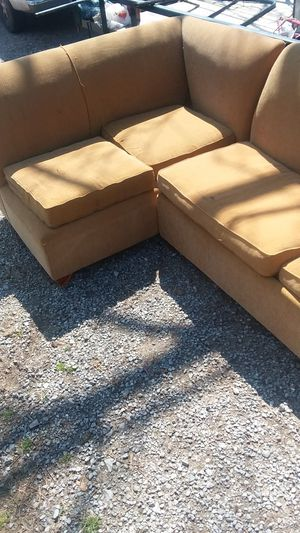 Sectional couch with let out bed and mattress for Sale in Cleveland, MS