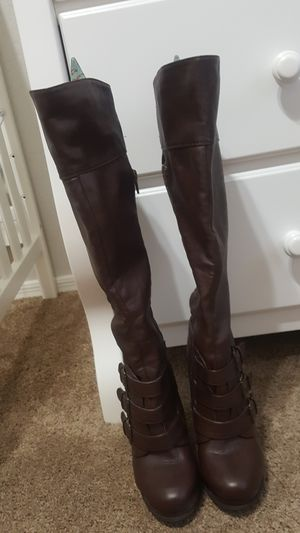 Bamboo knee high boots for Sale in Chandler, AZ