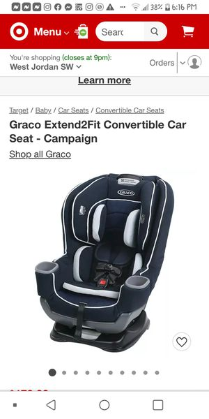 Extended2fit car seat for Sale in Taylorsville, UT