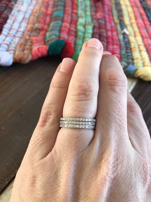 Three sterling silver bands for Sale in Madera, CA