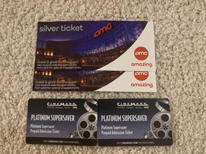 4 Movie Tickets - AMC and Cinemark for Sale in San Mateo, CA