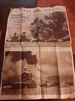 1942 remember Pearl Harbor news papper for Sale in Gaithersburg, MD
