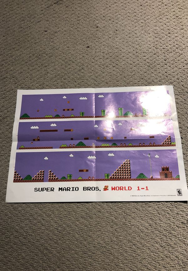 Vintage Super Mario Bros. Two-Sided Poster