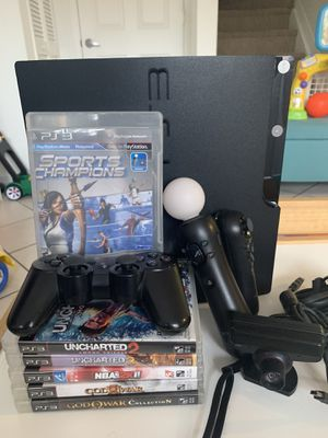 PS3 + Move & Games for Sale in Sunrise, FL
