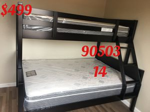 Twin/full bunk bed with mattresses. Assembly required. Assembly not included. Free delivery-$499.00 for Sale in Torrance, CA