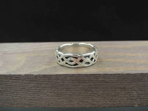 Size 6.5 Sterling Silver Thick Celtic Pattern Band Ring Vintage Statement Engagement Wedding Promise Anniversary Bridal Cocktail for Sale in Everett, WA