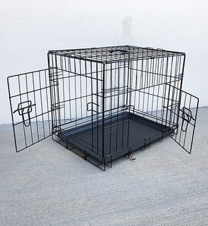 """(NEW) $25 Folding 24"""" Dog Cage 2-Door Folding Pet Crate Kennel w/ Tray 24""""x17""""x19"""" for Sale in El Monte, CA"""