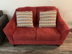 2 seater couch with pillows for Sale in Herndon, VA