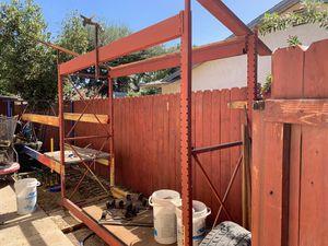 Shelving rack 3 tier; related sister item HomeDepot racks (not Depot racks).... for Sale in Hanford, CA