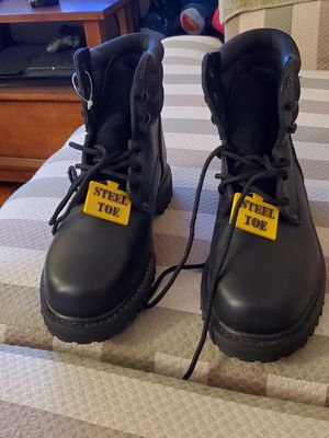 Sears 84711 Mens Steel Toe Work Boot Black Size 7 1/2D New for Sale in Montebello, CA