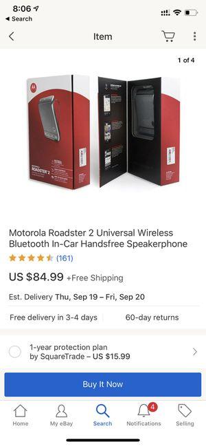 Motorola Roadster 2 Universal Bluetooth In-car Speaker TZ710 for Sale in Mercer Island, WA