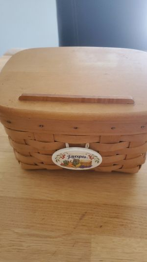 Longaberger recipe basket for Sale in El Paso, TX