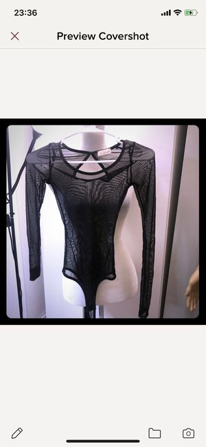 See Through Long Sleeve Bodysuit Size XXS for Sale in Las Vegas, NV
