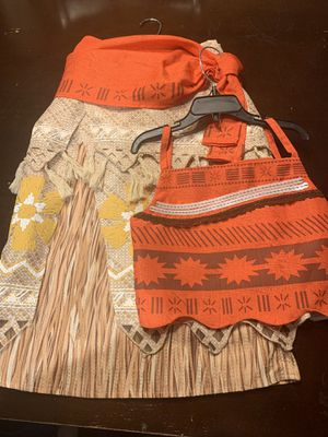 Authentic Disney Store Moana Outfit for Sale in Indianapolis, IN