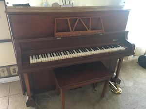 Piano! Upright Bench, removable music stand for Sale in Lakeland, FL