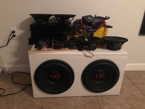 12 in subs music setup for Sale in Poinciana, FL