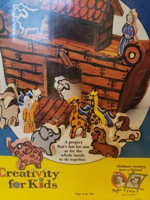 Noah's Ark toy paint wooden craft kid toy set for Sale in Hampton, VA